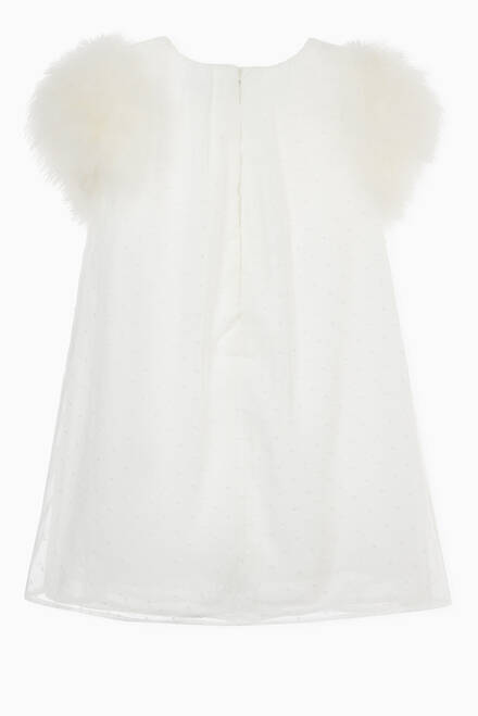 hover state of Feather Sleeve Dress