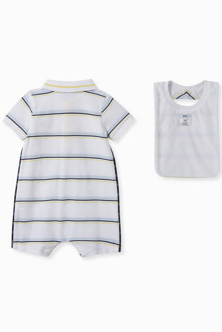 hover state of Striped Romper Set, Set of 3