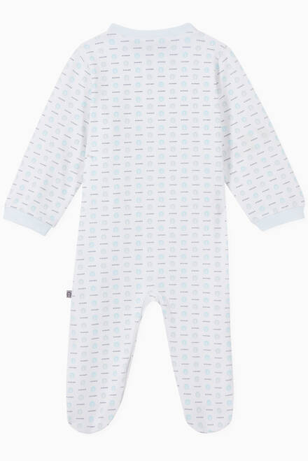 hover state of Logo Pima Cotton Jersey Babygrow