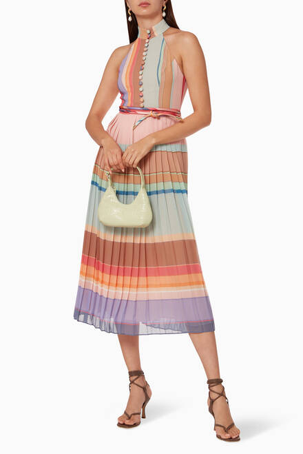 hover state of Pleated Picnic Colour-Block Dress