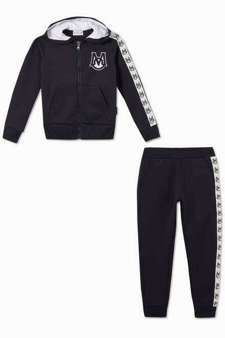 hover state of Logo Tape Jersey Tracksuit
