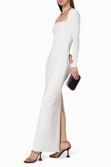 hover state of Clio Fitted Maxi Dress