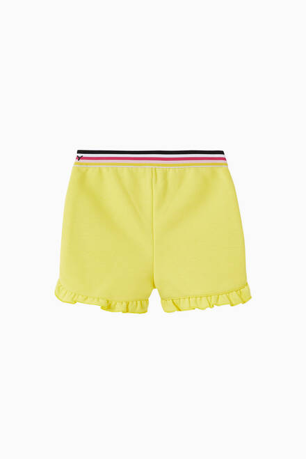 hover state of Logo Striped Cotton Shorts