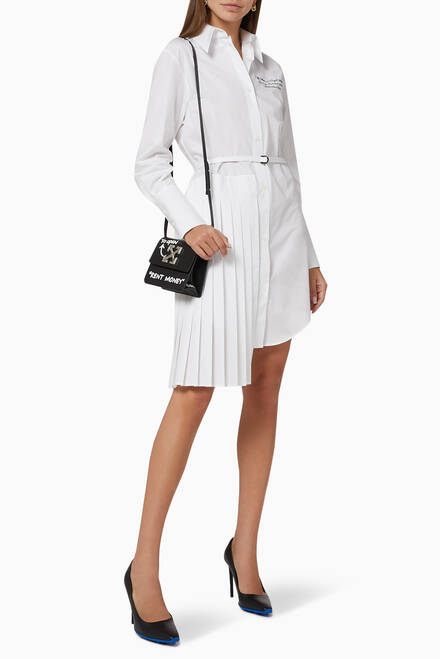 hover state of Script Logo Poplin Shirt Dress