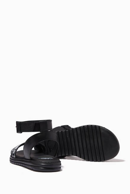 hover state of Logo Sandals in Leather