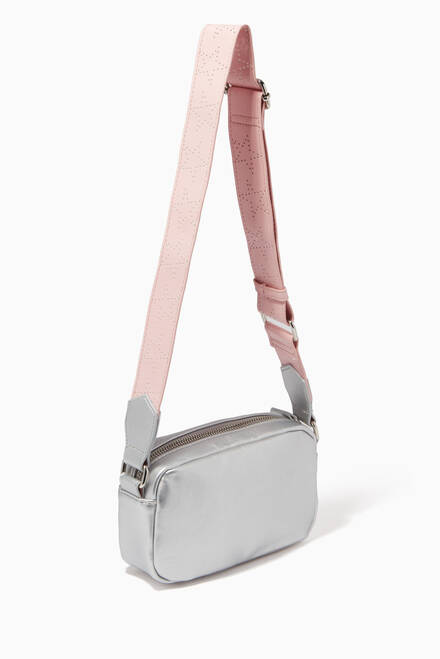 hover state of Star Shoulder Bag in Metallic Faux Leather