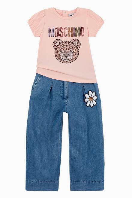 hover state of Daisy Teddy Bear Jeans in Denim