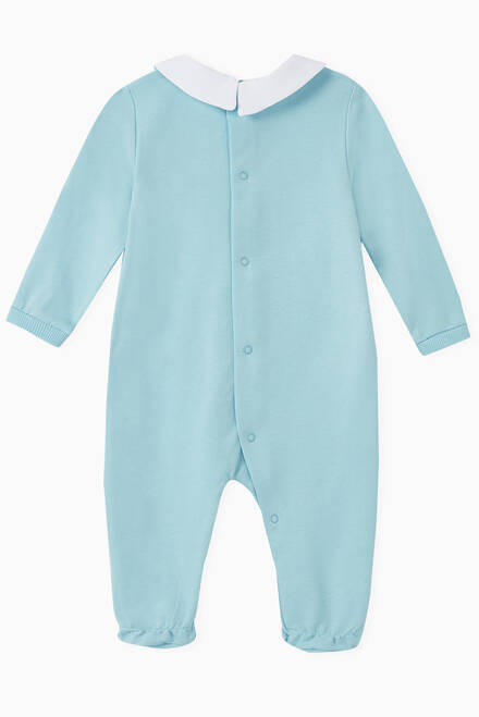 hover state of Teddy Bear Cotton Jersey Romper