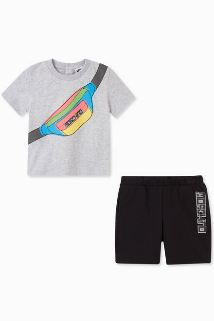 hover state of Graphic T-Shirt & Shorts Set