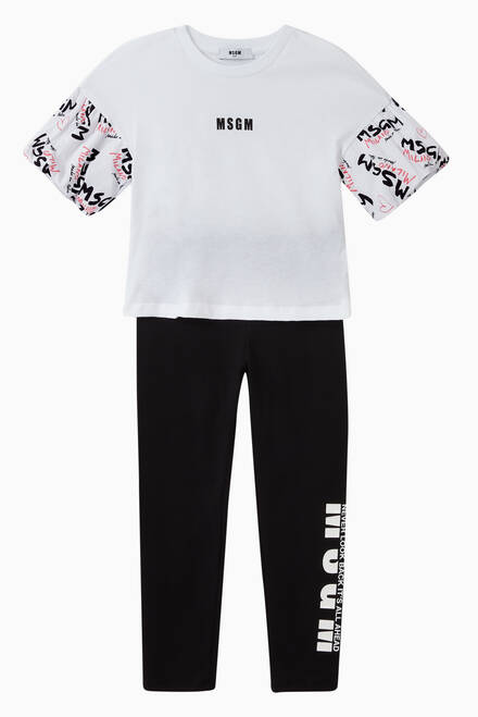 hover state of Logo Stretch Jersey Leggings