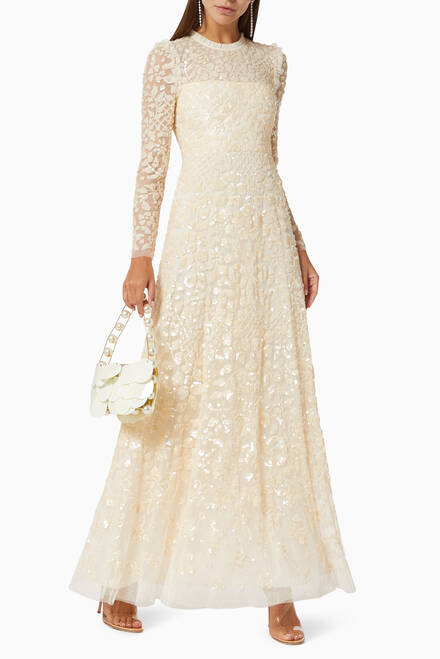 hover state of Aurelia Gown in Sequin Tulle