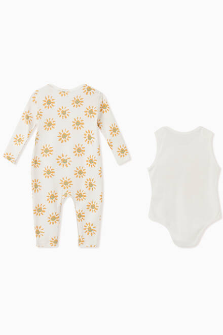 hover state of Happy Sun Body and Jumpsuit Set in Organic Cotton