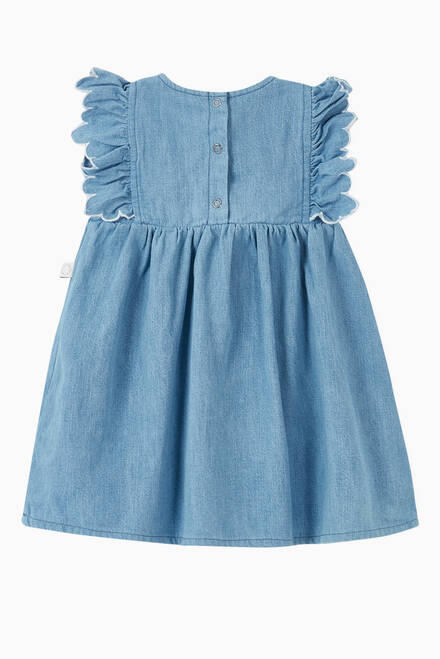 hover state of Butterfly Patch Denim Dress