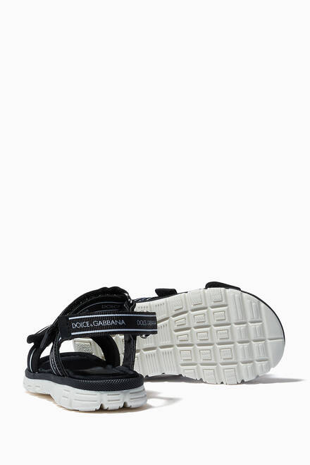 hover state of DNA Logo Strap Sandals in Canvas