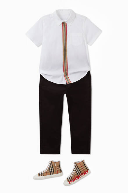 hover state of Icon Stripe Cotton Twill Drawcord Pants
