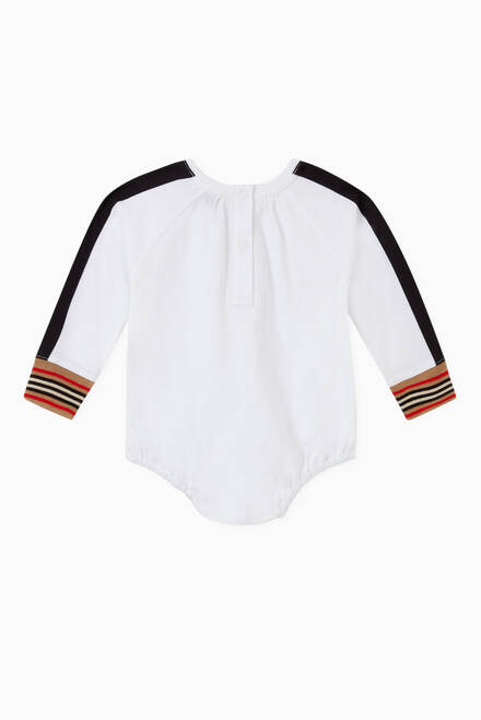 hover state of Vintage Check Icon Stripe Cotton Bodysuit