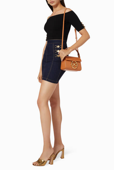 hover state of Stretch Cotton Denim Mini Skirt