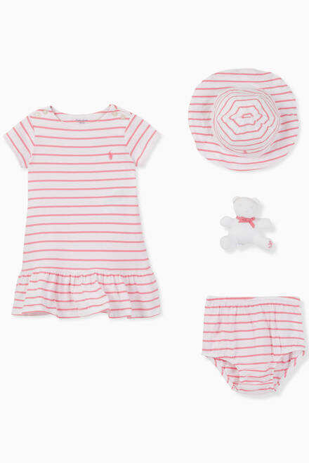 hover state of Striped Gift Set in Cotton, Set of 3