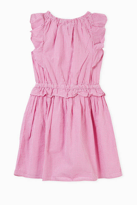 hover state of Gingham Dress in Cotton