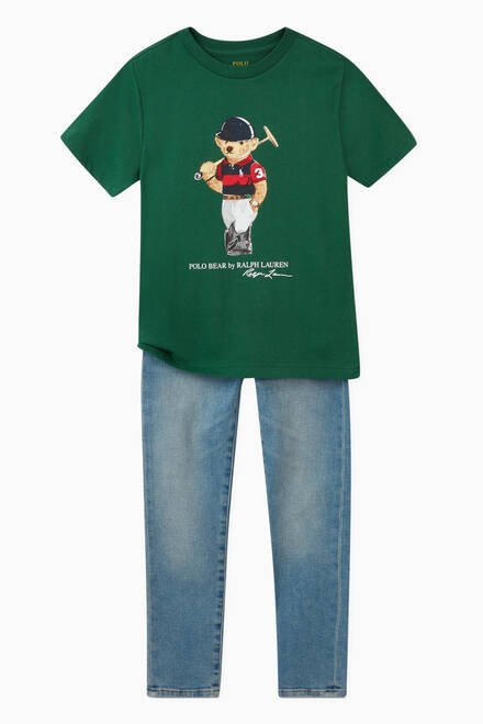 hover state of Polo Bear Jersey T-shirt