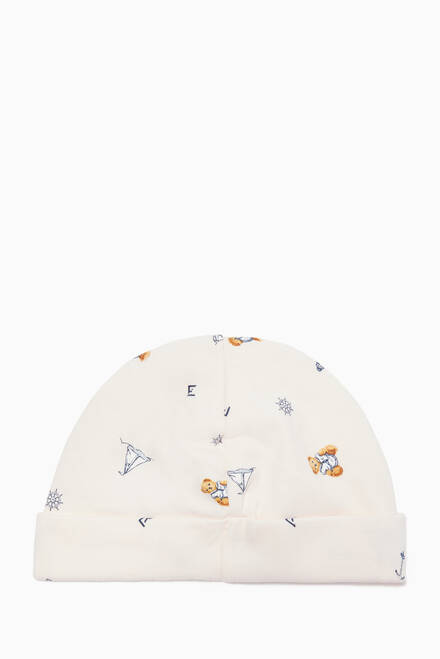 hover state of Polo Bear Cotton Interlock Hat in Cotton