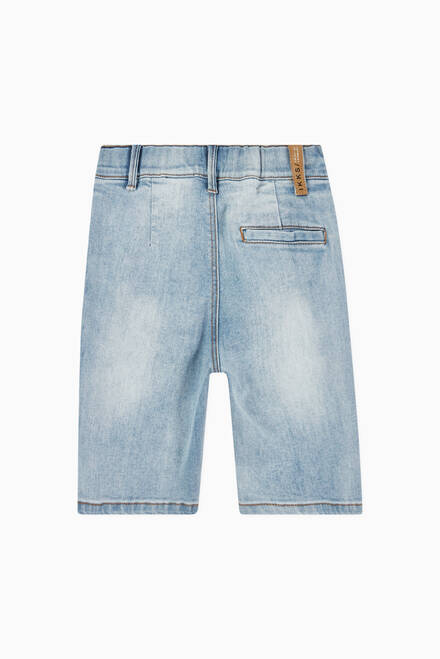 hover state of Bleached Denim Shorts