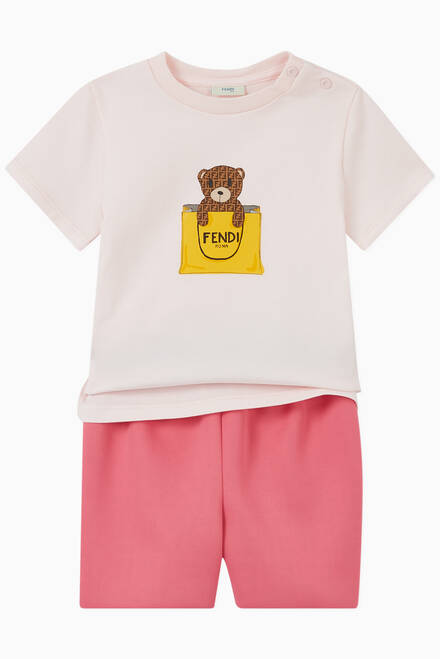 hover state of Bear Print Cotton T-Shirt