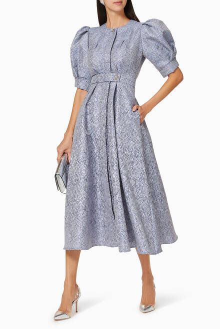 hover state of Belted Shirt Dress