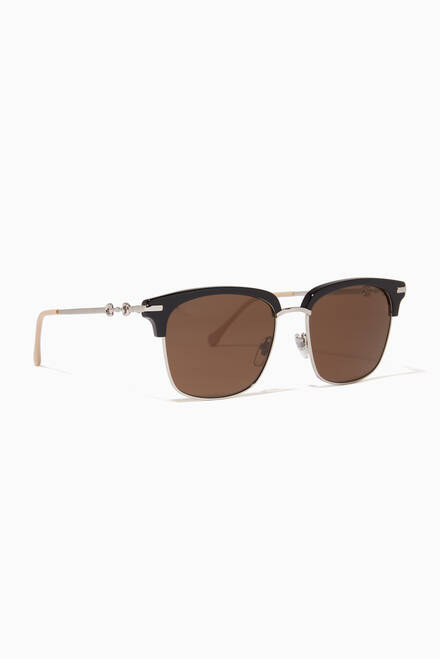 hover state of D-Frame Sunglasses in Acetate & Metal