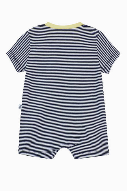 hover state of Striped Crab Romper in Cotton