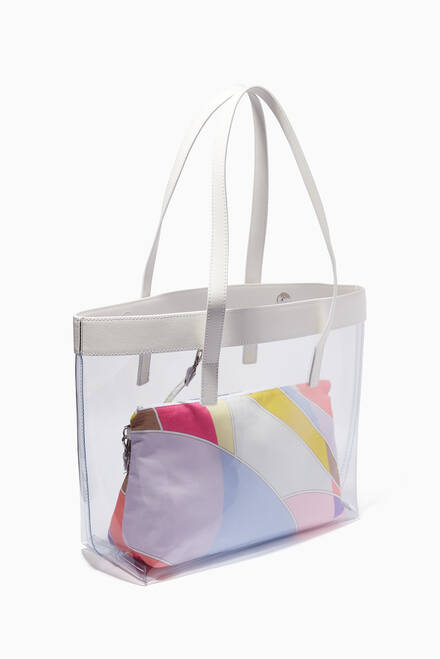 hover state of Quirimbas Print Tote Bag in PVC