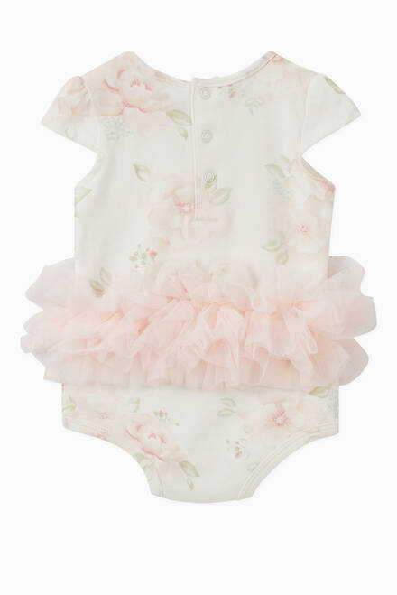 hover state of Floral Tulle Bodysuit