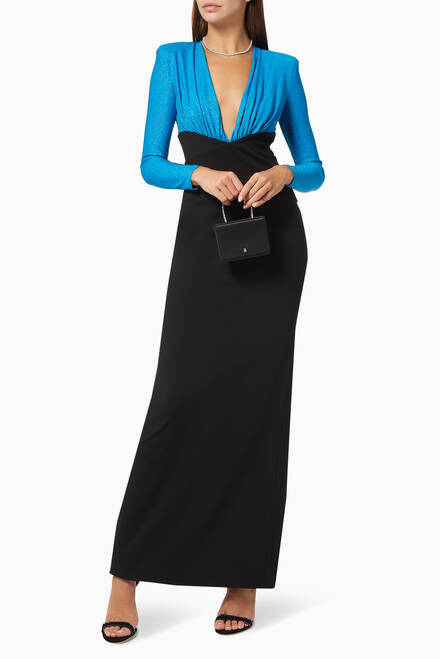 hover state of Lena Crêpe Evening Gown