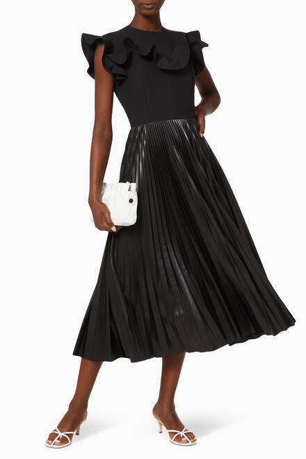 hover state of Pleated Frill Dress