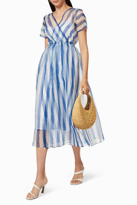 hover state of Filippa Printed Crepe Organza Dress