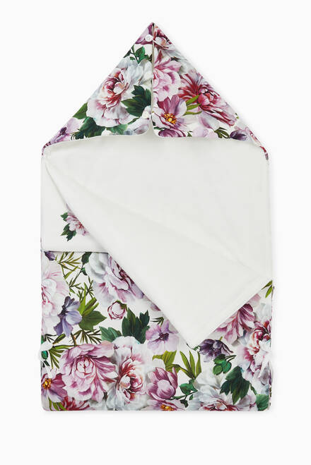 hover state of Sleeping Bag with Peony Print in Cotton Jersey