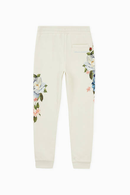 hover state of Jogging Pants with Magnolia Print in Jersey