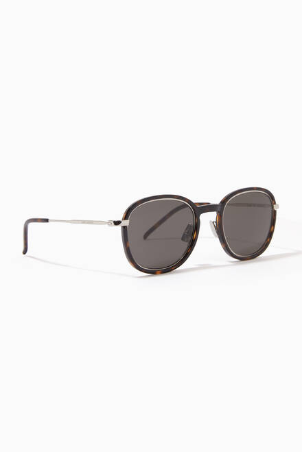 hover state of Round Frame Sunglasses in Acetate & Metal