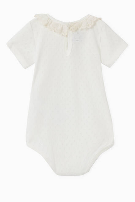 hover state of Eyelet Embroidery Bodysuit in Cotton