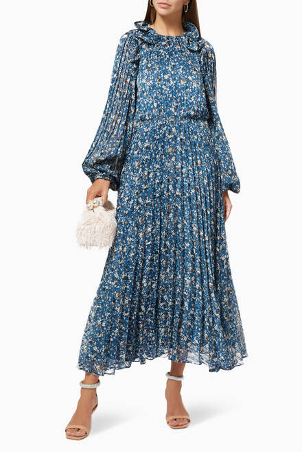 hover state of Floral Pleated Dress