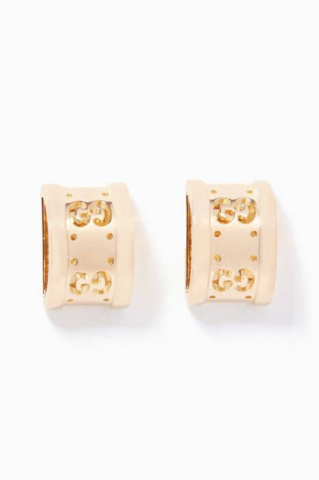 Yellow-Gold Icon Twirl Earrings