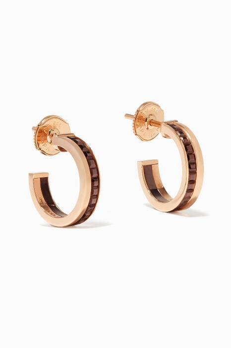 Rose-Gold Quarte Classique Hoop Earrings