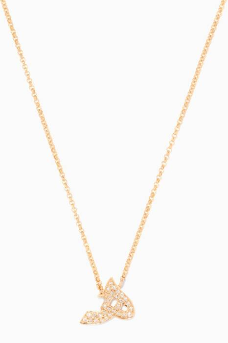 Yellow-Gold Letter H Necklace