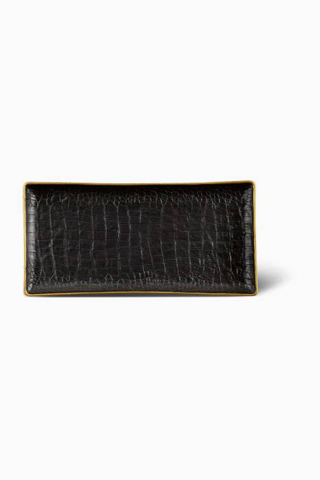 Black Crocodile Rectangle Tray