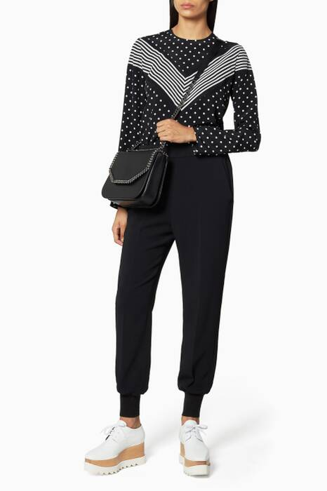 Black Julia Stretch Cady Trousers