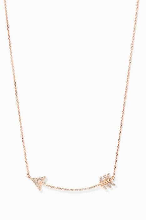 Gold And Diamond Eros Arrow Necklace
