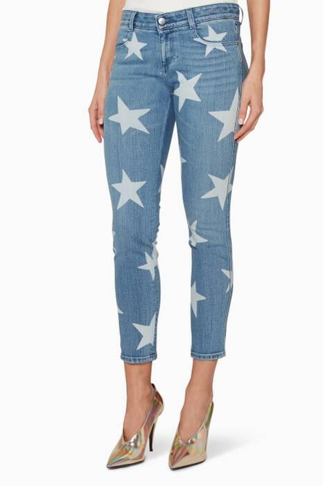 Light-Blue Skinny Ankle-Grazer Star Jeans