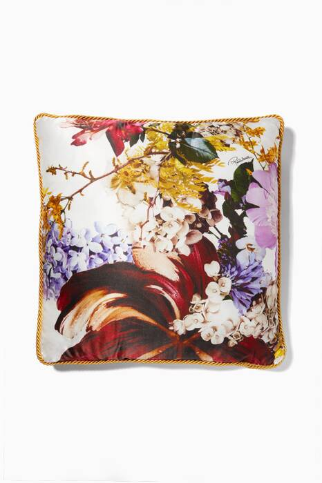 Floris Bianco Floral Cushion