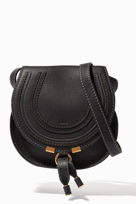 Black Small Marcie Saddle Bag