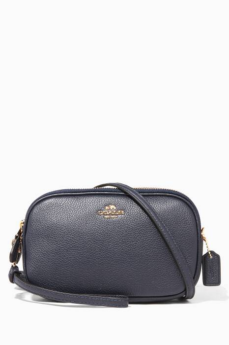 Dark-Blue Cross-Body Clutch